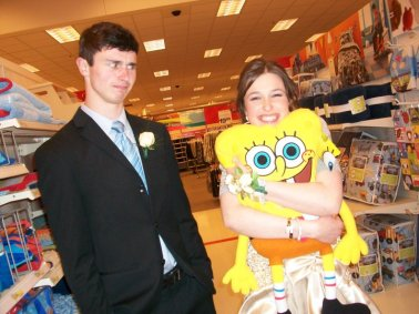 Craig and I at Target on the night of our first prom.
